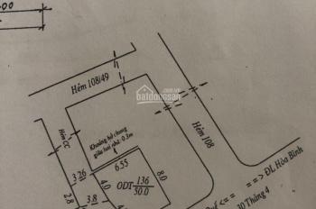 Bán nhà giá mềm, hẻm 108 đường 30/4, ngay trung tâm Ninh Kiều