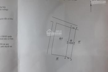 Bán đất mặt đường Xóm Mới, Ngọc Thụy, diện tích 113m2, giá 65tr/m2 kinh doanh tốt