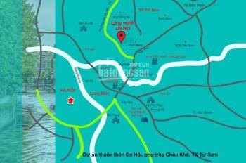 Tôi bán 4 lô đất tại dịch vụ làng nghề Đa Hội - Châu Khê - Từ Sơn - Bắc Ninh, giá 5,6tr/m2