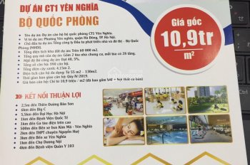 Bán căn hộ chung cư giá rẻ 10.9tr/m2 Bộ tư lệnh Thủ đô CT1 Yên Nghĩa - Quận Hà Đông - LH 0986640980