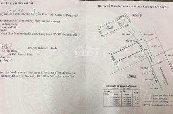 Bán nhà 100/13A - B Nguyễn Công Trứ, P. Nguyễn Thái Bình Q1, DT: 5.7x10m, GPXD 5 tấm, giá 11.3 tỷ
