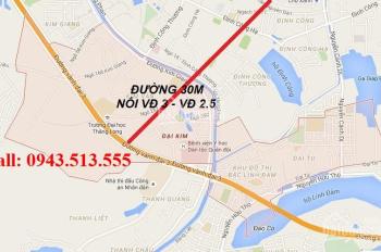 Sở hữu LK - shophouse vị trí đẹp đường 30m dự án Đại Kim-Đinh Công, giá gốc chỉ 50tr - 0943513.555