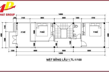 Nhà 1 trệt 1 lầu cạnh chợ Tân Phước Khánh - Tân Uyên - Bình Dương