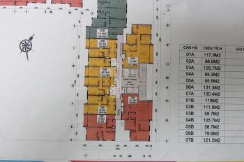 Căn hoa hậu 4A tầng 16, diện tích 95.3m2 tòa E2 Yên Hòa, giá 41 tr/m2, LH 0978.353.999