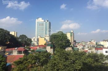 Cho thuê nhà mặt phố Cát Linh: Diện tích 250m2 x 4 tầng, MT 15m, nhà mới, thông sàn, 2 thang máy