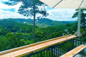 Đất 1500m2 mặt tiền Hoàng Hoa Thám có homestay cực đẹp, 10 phòng. View thung lũng rừng thông
