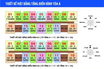 Bán rẻ 2 CHCC IA20 Ciputra, 1212 - A1: 92m2 và 1616 - A2: 99.8m2, giá 18.5tr/m2, LH 0906.2I7.669