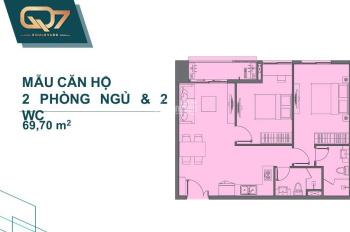 Chính chủ bán căn hộ ngay trung tâm Phú Mỹ Hưng giá 2 tỷ diện tích 51m2, 69m2. LH: 0933371427