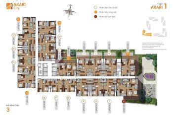 Giỏ hàng giá gốc CĐT CH Akari City, từ 32tr/m2, tầng đẹp, 75-100-121m2 TT 10% ký HĐC. LH 0943352339