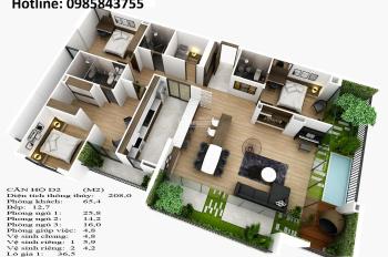 Sở hữu căn hộ penthouse hot nhất khu vực Long Biên view Vinhomes, hỗ trợ LS 0%, chiết khấu 3%