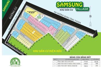 Tổng hợp bán dự án Sam Sung Village đường Bưng Ông Thoàn giá thấp hơn thị trường, LJ 0919823007