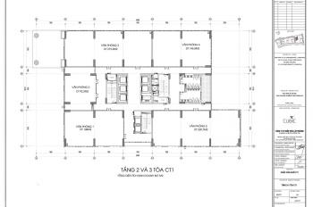 Cần cho thuê sàn thương mại tầng 2(827m2) chung cư Bộ Công An - 43 Phạm Văn Đồng, Bắc Từ Liêm