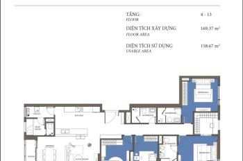 Bán gấp căn hộ 4PN tháp Maldives, view, sông SG đẹp nhất dự án. LH 0908111886