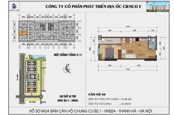 Bán chung cư Thanh Hà Cienco 5 nhận nhà mới vào ở luôn. 0936380111
