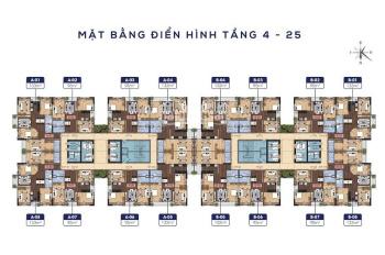 Bán căn 2506 - 95m2 tòa N01 - T1 Lạc Hồng 2 KĐT Ngoại Giao Đoàn, giá 33.5 tr/m2. LH 097.838.6969