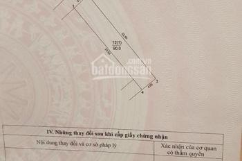 Chính chủ bán đất tổ dân phố Kiên Thành 90m2, 35tr/m2, cơ hội đầu tư sinh lời lớn. LH: 0375579218