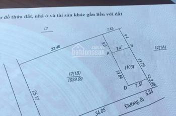 Chính chủ bán lô đất 2 mặt tiền, vuông vắn, gần ngã tư Lục Quân, 1039m2, chỉ 1,8 tỷ. LH 0987560669