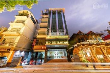 Cho thuê tòa nhà mặt phố Hàm Long: DT 200m2 x 8 tầng, MT 6m, có thang máy, nhà mới. LH 0936030855