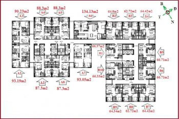 Bán căn hộ 2 và 3PN tầng đẹp, bàn giao full nội thất, ký với chủ đầu tư chung cư UDIC 122 Vĩnh Tuy