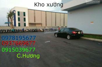 Cho thuê kho xưởng 1300m2, xe công 40f vào được, ở Nguyễn Cửu Phú, giá 100tr/1 th. 0937669677