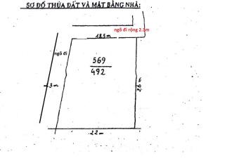 Bán đất thổ cư ngõ 235 Yên Hòa, 495m2, MT 19m, 2 mặt thoáng, ngõ 2,5m. Giá 65 triệu/m2