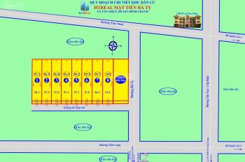 Đất nền khu dân cư HTReal Bà Tỵ, xã Tân Nhựt, Bình Chánh, 15,5 triệu/m2. Đã có sổ