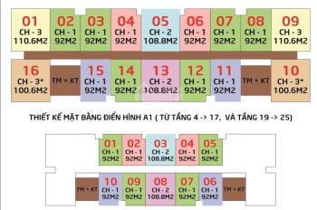 Bán rẻ CHCC IA20 Ciputra, 1616 - A2 100,6m2 và 1813 B: 107,5m2, 18,5 triệu/m2 (VAT) LH 0971085383