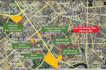 Đất nền KĐT Đại Kim Định Công, MP shophouse, 102.5m2, gốc 45 tr/m2 - 0943513555