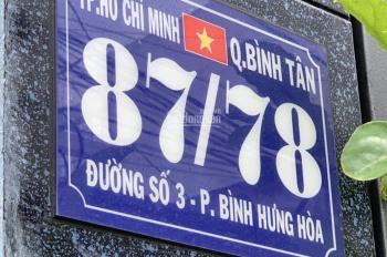 Hàng mới tinh, đất nền biệt thự 2 mặt tiền 5m xe tải đường Số 3, 65m2 P. BHH, Q. BT giá 4tỷ25