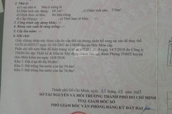 Nhà mặt tiền Trần Văn Mười 1T, 3L, xây kiên cố, DT 6,5x40m, đang cho thuê 30tr/th