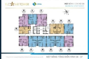 Bán cắt lỗ CHCC FLC Star Tower Quang Trung tầng 1508 - 76m2, 1809 - 62m2 giá 20tr/m2. LH: 096629726
