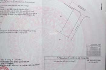 Bán đất Nguyễn Đức Thuận, Đăng Kiểm, Vĩnh Hoà, Nha Trang, DT 84m2 - Giá 1,57 tỷ