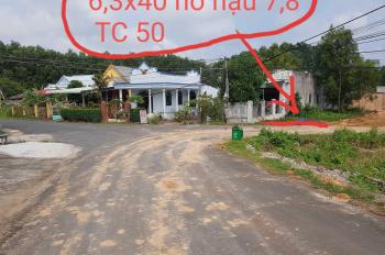 Bán đất trung tâm thị trấn Phước Bửu, 6,3m x 40m, nở hậu 7,8m, LH 0932629149