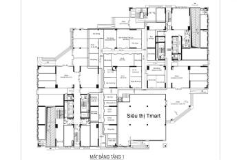 Bán kiot, văn phòng diện tích nhỏ xinh giá từ 370tr/ ô tại tầng 1 chung cư Nam Xa La Hà Đông