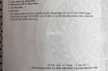 Cần bán đất tổ 6 Quán Tình, P Giang Biên, HN, DT 54m2 hướng Đông Bắc, ngõ ô tô. LH. 093.779.1983