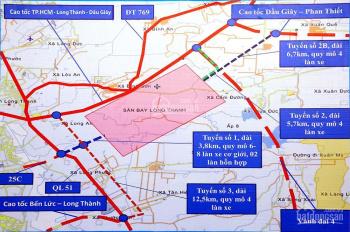 Đất 1.3 hecta, đường xe tải huyện Long Thành, cách sân bay 3 km, ngang 170m, giá 13 tỷ. 0901414778