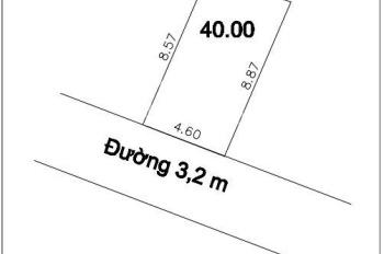 40m2 đất Vân Nội đường 4m ô tô đỗ cửa cách cầu Nhật Tân 2km