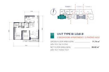 Bán căn hộ 2PN Q2 Thảo Điền, sát bên Masteri An Phú, T1 - 22.02 5.250 tỷ