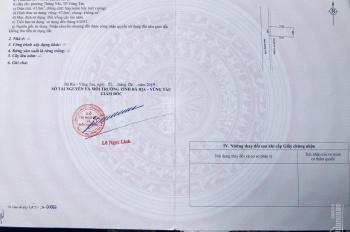 Cần bán gấp đất ngay trung tâm thành phố Vũng Tàu, đường Vi Ba, phường Thắng Nhì