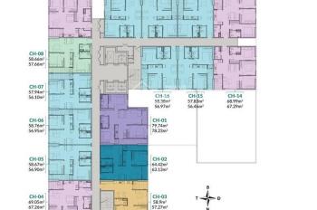 Bán căn hộ 2 phòng ngủ căn số 02 chung cư Areca Garden, TP Bắc Giang. LH 0989681508