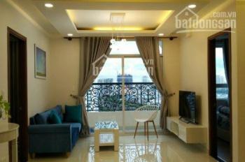 Cho thuê căn hộ The Gold View DT 82m2 chỉ 16 triệu/th, 2PN 2WC, full nội thất. LH Vân 0909 943 694