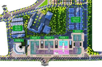 Bảng giá mới nhất của shophouse Eurowindow River Park Đông Trù - LH: 0982998659