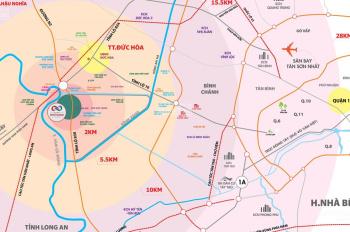 Bán gấp nền KDC Cát Tường Phú Thạnh - Đức Hoà, Vành Đai 4, 5x20m, 10tr/m2, SHR, LH 0901440364