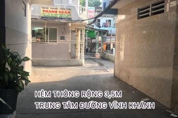 Hẻm Vĩnh Khánh, phường 10, thông thoáng rộng 3,5m