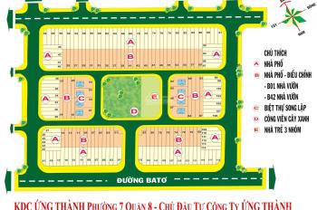 Bán đất sổ đỏ đường 20m KDC Ứng Thành, P7, Q8 giá 4,2 tỷ