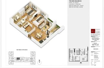 Anland Premium - 75m2 - 2pn + 1 - full nội thất - giá chủ đầu tư - 0972302880