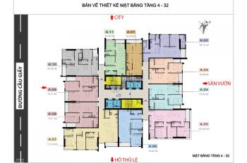 Chính chủ cần bán gấp chung cư Cầu Giấy Center Point căn 08 DT 75.64m2, giá 32tr/m2