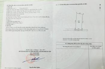Bán đất SĐCC rộng 50m2, ngõ 495 Nguyễn Khoái (gần cầu Vĩnh Tuy)