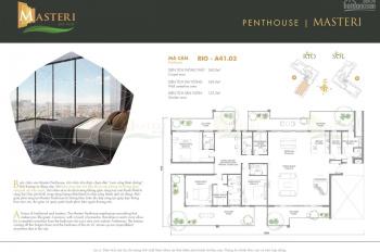 Gia đình cần bán gấp căn Penthouse Masteri AP, căn đẹp nhất dự án, view 360 độ, view sông Sài Gòn