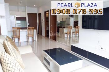 Cho thuê căn hộ 1PN 56m2 Pearl Plaza, view sông Sài Gòn. Hotline PKD SSG 0908 078 995 xem nhà ngay